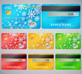 Set of realistic credit card two sides — Stock Vector