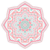 Decorative pink and blue pattern frame — ストックベクタ