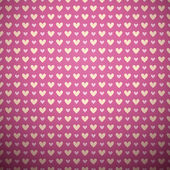 Romantic vector seamless pattern (tiling). — Vector de stock