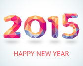 Happy New Year 2015 colorful greeting card — Stockvektor