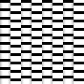 Abstract seamless illusion paper stripes monochrome pattern — Stock Vector