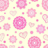 Romantic seamless pattern (tiling). Vector illustration — Vecteur