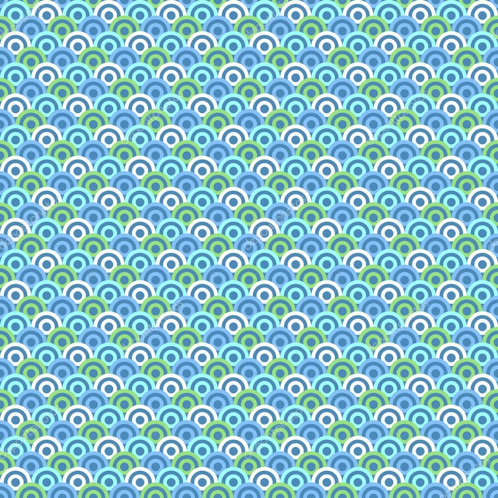 abstrakte wasser kreis muster tapete. vektor-illustration