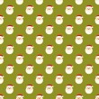 Abstract Christmas Santa Clause face pattern wallpaper — Stock Vector
