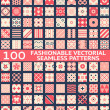 Fashionable vintage vector seamless patterns — Stock Vector #40986701