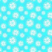 Abstract citrus fruit seamless pattern. Vector illustration — Stock Vector