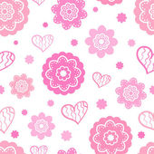 Romantic seamless pattern (tiling). Vector illustration — Vettoriale Stock