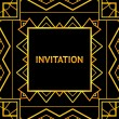 Art decor invitation card in vintage style. Vector illustration — Stock Vector