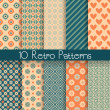 Retro abstract vector seamless patterns — Stock Vector #41515417
