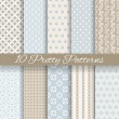 Pretty pastel vector seamless patterns (tiling, with swatch) — Stockvektor  #41516535