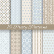 Pretty pastel vector seamless patterns (tiling, with swatch) — Vector de stock  #41516535