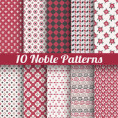 Noble elegant vector seamless patterns (tiling) — Stock Vector
