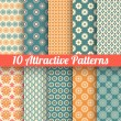 Attractive vector seamless patterns (tiling) — Stock Vector #43166557