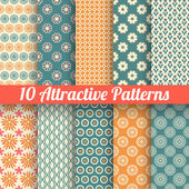 Attractive vector seamless patterns (tiling) — Stock Vector