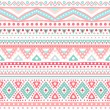 Постер, плакат: Tribal ethnic seamless stripe pattern