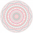 Decorative pink and blue round pattern frame — Stock Vector #44158779