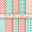 Pretty pastel vector seamless patterns (tiling, with swatch) — Stock Vector