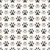 Seamless animal pattern of paw footprint. Endless texture can be — Stock Vector