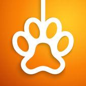 Applique dog track icon frame. Vector illustration — Stock Vector