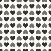 Seamless geometric pattern with hearts. Vector illustration — Stockvector