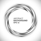 Abstract black and white swirl circle background. Vector — Vecteur