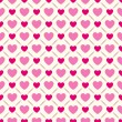 Seamless geometric pattern with hearts. Vector illustration — Stock Vector #50007767