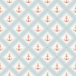 Seamless vector pattern of anchor shape and line — Stock Vector #50019397