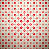 Floral fashionable vector pattern. Retro red and grey — Stock Vector