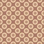 Tea abstract vector seamless patterns — Stock Vector
