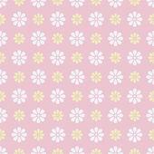 Nice vector seamless pattern. Sweet pink, white — ストックベクタ