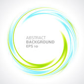Abstract light blue and green swirl circle bright background — Stock Vector