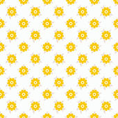 Light summer vector seamless pattern. Fond white — Stock Vector