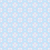 Baby pastel different vector seamless pattern — Stock Vector