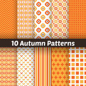 Autumn vector seamless patterns. Endless texture for wallpape — Stock Vector