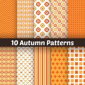 Autumn vector seamless patterns. Endless texture for wallpape — Stock Vector