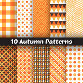 Autumn vector seamless patterns. Endless texture for wallpape — ストックベクタ