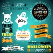 Halloween vintage set - labels, ribbons — Stock Vector #51481913