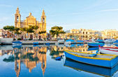 Malta view at golden hour — Stock Photo