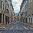 Lisbon, Portugal. Classical view. Typical architecture of the city streets — Stock Photo