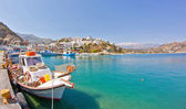 Agios nicolaos - Crete - greece harbor — Stock Photo