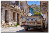 Charming streets of greek islands. Crete — Stock Photo