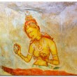 Sigiriya princesses. Cave painting inside the ancient Cave temple, Sri Lanka. 5 century — Stock Photo