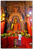 Budha at Lankathilake ancient temple, Sri lanka — Foto Stock