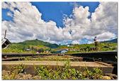 Rails with sky — Stock Photo