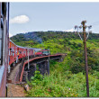 Railway and train in Sri Lanka — Stock Photo