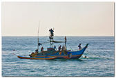 Sri Lanka, fishing boat — Stock Photo