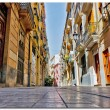 Traditional narrow street in Valencia Spain — Stock Photo