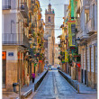 Valencia, Spain, view of narrow town streets. — Stock Photo