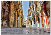 Traditional narrow street in Valencia Spain — Stockfoto