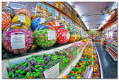 Colorful candy at the candy shop in Valencia — Stockfoto